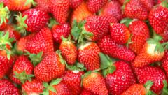 Fresh ripe strawberry. Strawberries background Stock Footage