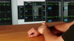 4K Futuristic Smart Wrist Watch Touchscreen Technology Concept 1 Stock Footage