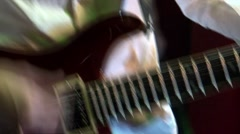 Playing the guitar. Guitarist musician Stock Footage