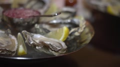 Oysters - stock footage