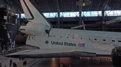 Smithsonian Air and Space shuttle Discovery display 4K 018 Stock Footage