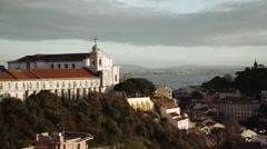 Monastery of São Vicente de Fora Stock Footage
