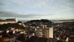 Sao Jorge St. George Castle Stock Footage