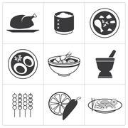 Icon thai food Stock Illustration
