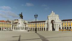 Commerce Square in downtown Lisbon, Portugal - stock footage