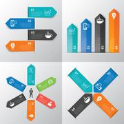 paper tab infographic - stock illustration