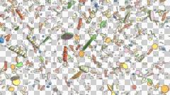 Candy Confetti Rain Stock Footage