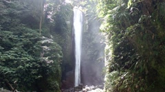 A small waterfall in the tropical jungle. Philippines. Palawan. - stock footage