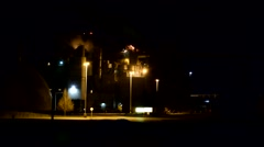 Warehouse _ Factory _  Industrial Shop at night after Dark 1 Stock Footage