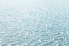 Defocus of Bokeh light  on The sea background - stock photo