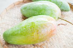 Thai natural giant green mango Stock Photos