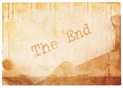 The End, Old And Faded Collage - stock photo