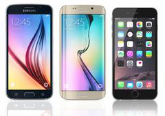 Samsung Galaxy S6 and Edge and iPhone 6 Piirros