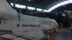 Space Shuttle Discovery Washington educational DC 4K 016 Stock Footage