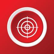 Aim icon on red - stock illustration