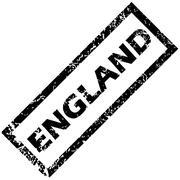 ENGLAND rubber stamp - stock illustration