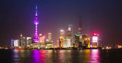 Time lapse of Shanghai skyline with new Shanghai Tower - 4K UHD Stock Footage