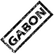 Stock Illustration of GABON rubber stamp