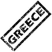 GREECE rubber stamp - stock illustration