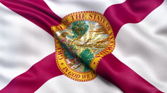 4K Florida state flag seamless loop Ultra-HD Stock Footage