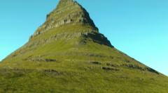 Kirkjufell Mountain in ICELAND Stock Footage