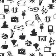 seamless relax pattern - stock illustration