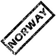 NORWAY stamp - stock illustration