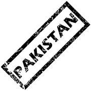 PAKISTAN stamp - stock illustration