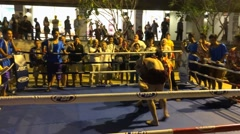 Thai boxing match fight show in Siam Niramit Stock Footage