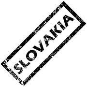 SLOVAKIA stamp Stock Illustration