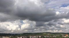 Panorama of stormy sky Stock Footage