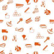 seamless toys pattern - stock illustration