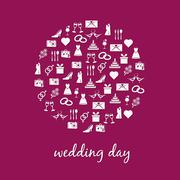 Wedding icon in circle Stock Illustration
