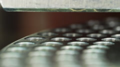 Encapsulator Loading Empty Vitamin or Pill Capsules Into Loading Trays Stock Footage
