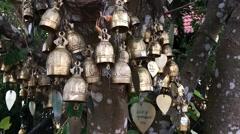 Buddhism bells - stock footage