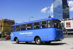 Oldtimer Bus, Sarajevo - stock photo