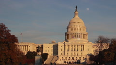 Capitol in Washington DC - stock footage