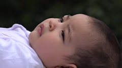 Happy Baby, Smiling Infant, Laughing Newborn - stock footage