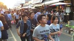 Biggest market in Asia - Jatujak market Stock Footage