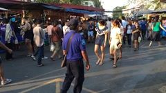 Evening Jatujak market Stock Footage