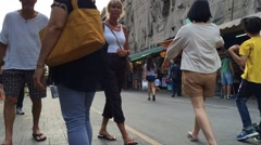 Timelapse of people in Bangkok Jatujak market Stock Footage