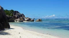 anse source d'argent on la digue - stock photo
