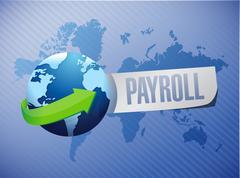 Stock Illustration of payroll international sign concept illustration