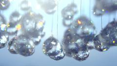 Stock Video Footage of Chandelier with blinking crystals. Abstract  blinking background