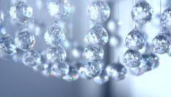 Hanging diamonds with blinking color shining reflection Stock Footage