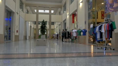Time lapse passengers walk & shop cruise ship terminal Naples Italy - HD P 02 Stock Footage