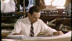 Architect Industrial TV Engineers Vintage Film Retro Film Old Home Movie  8432 - stock footage