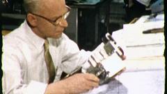 Television Industrial TV Engineer Vintage Film Retro Film Old Home Movie 8436 Stock Footage