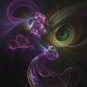 Fractal Light Form Design - stock illustration