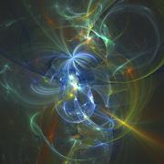 Fractal Light Forms  - stock illustration